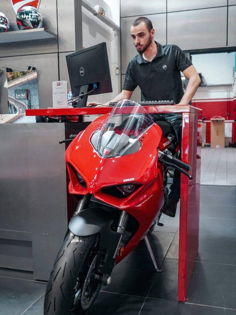 Antoine équipe Ducati Lyon