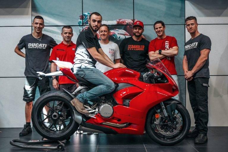Equipe motos Ducati à Lyon